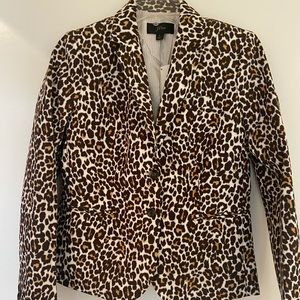 NWT J Crew animal print blazer size small lined